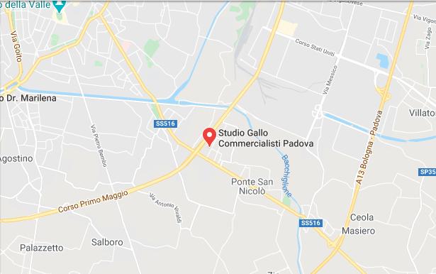 mappa studio gallo padova